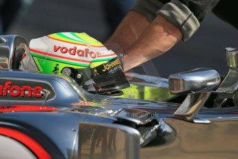 World © Octane Photographic Ltd. Formula 1 Winter testing, Barcelona – Circuit de Catalunya, 2nd March 2013. Vodafone McLaren Mercedes MP4/28. Sergio Perez. Digital Ref: 0583lw1d9029