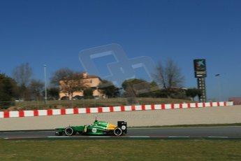 World © Octane Photographic Ltd. Formula 1 Winter testing, Barcelona – Circuit de Catalunya, 2nd March 2013. Caterham CT03, Giedo van der Garde. Digital Ref: 0583lw1d9325