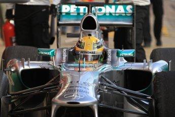 World © Octane Photographic Ltd. Formula 1 Winter testing, Barcelona – Circuit de Catalunya, 2nd March 2013. Mercedes AMG Petronas  F1 W04 – Lewis Hamilton. Digital Ref: 0583lw7d0673