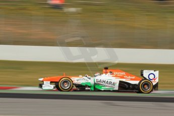 World © Octane Photographic Ltd. Formula 1 Winter testing, Barcelona – Circuit de Catalunya, 2nd March 2013. Sahara Force India VJM06 – Adrian Sutil. Digital Ref: 0583lw7d0759