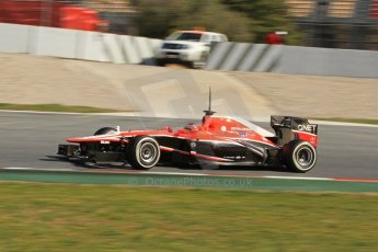 World © Octane Photographic Ltd. Formula 1 Winter testing, Barcelona – Circuit de Catalunya, 2nd March 2013. Marussia MR02, Jules Bianchi. Digital Ref: 0583lw7d0950