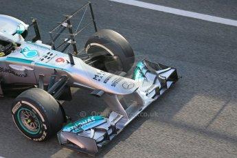 World © Octane Photographic Ltd. Formula 1 Winter testing, Barcelona – Circuit de Catalunya, 3rd March 2013. Mercedes AMG Petronas  F1 W04 – Nico Rosberg. Digital Ref: 0584lw1d0093