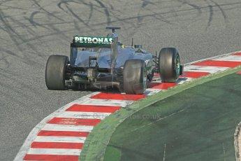World © Octane Photographic Ltd. Formula 1 Winter testing, Barcelona – Circuit de Catalunya, 3rd March 2013. Mercedes AMG Petronas  F1 W04 – Nico Rosberg. Digital Ref: 0584lw1d0489