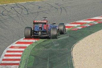 World © Octane Photographic Ltd. Formula 1 Winter testing, Barcelona – Circuit de Catalunya, 3rd March 2013. Toro Rosso STR8, Daniel Ricciardo. Digital Ref: 0584lw1d0506