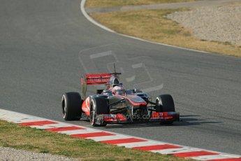 World © Octane Photographic Ltd. Formula 1 Winter testing, Barcelona – Circuit de Catalunya, 3rd March 2013. Vodafone McLaren Mercedes MP4/28. Jenson Button. Digital Ref: 0584lw1d0622