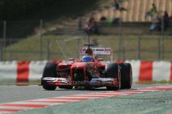 World © Octane Photographic Ltd. Formula 1 Winter testing, Barcelona – Circuit de Catalunya, 3rd March 2013. Ferrari F138 – Fernando Alonso. Digital Ref: 0584lw1d1035