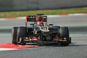 World © Octane Photographic Ltd. Formula 1 Winter testing, Barcelona – Circuit de Catalunya, 3rd March 2013. Lotus E31, Kimi Raikkonen. Digital Ref: 0584lw1d1113