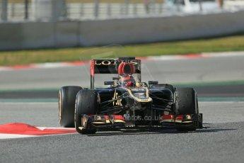 World © Octane Photographic Ltd. Formula 1 Winter testing, Barcelona – Circuit de Catalunya, 3rd March 2013. Lotus E31, Kimi Raikkonen. Digital Ref: 0584lw1d1140