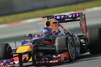 World © Octane Photographic Ltd. Formula 1 Winter testing, Barcelona – Circuit de Catalunya, 3rd March 2013. Infiniti Red Bull Racing RB9. Sebastian Vettel. Digital Ref: 0584lw1d1178