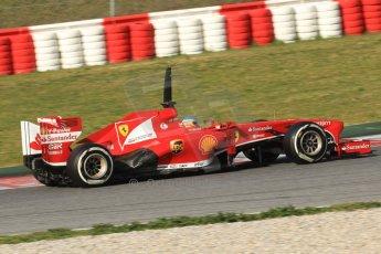 World © Octane Photographic Ltd. Formula 1 Winter testing, Barcelona – Circuit de Catalunya, 3rd March 2013. Ferrari F138 – Fernando Alonso. Digital Ref: 0584lw7d1063