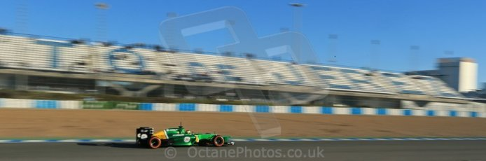 World © Octane Photographic Ltd. Formula 1 Winter testing, Jerez, 8th February 2013. Caterham CT03, Charles Pic. Digital Ref: