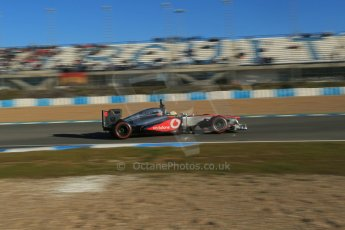 World © Octane Photographic Ltd. Formula 1 Winter testing, Jerez, 8th February 2013. Vodafone McLaren Mercedes MP4/28., Sergio Perez. Digital Ref: