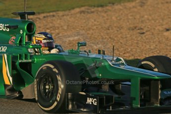 World © Octane Photographic Ltd. Formula 1 Winter testing, Jerez, 8th February 2013. Caterham CT03, Charles Pic. Digital Ref: 0574lw1d9696