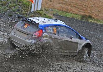World © Octane Photographic Ltd./Louise Tope. WRC GB 15th November 2013. Digital Ref. : 0874ltd32051