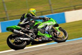 World © Octane Photographic Ltd. World Superbikes (SBK) European GP – Donington Park – Free Practice. Team Pedercini – Kawasaki ZX-10R – Alexander Lundh. Saturday 25th May 2013. Digital Ref : 0698ce1d3295
