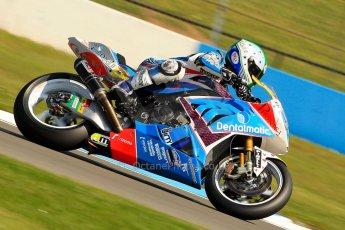 World © Octane Photographic Ltd. World Superbikes (SBK) European GP – Donington Park – Free Practice. Grillini Dentalmatic SBK – BMW S1000RR – Vittorio Iannuzzo. Saturday 25th May 2013. Digital Ref : 0698ce1d3358