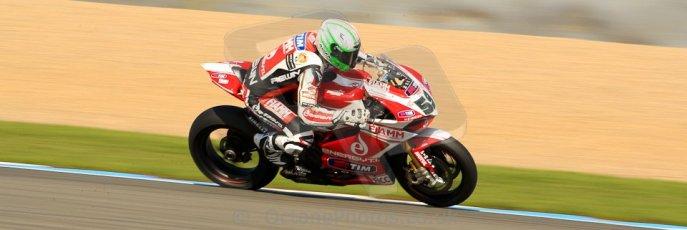 World © Octane Photographic Ltd. World Superbikes (SBK) European GP – Donington Park – Free Practice. Team Ducati Alstare - Ducati 1199 Panigale R – Niccolo Canepa. Saturday 25th May 2013. Digital Ref : 0698ce1d3648