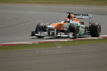 World © Octane Photographic Ltd. Formula 1 - Young Driver Test - Silverstone. Friday 19th July 2013. Day 3. Sahara Force India VJM06  - Adrian Sutil. Digital Ref :  0755lw1d0083