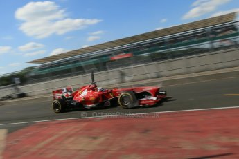 World © Octane Photographic Ltd. Formula 1 - Young Driver Test - Silverstone. Friday 19th July 2013. Day 3. Scuderia Ferrari F138 – Davide Rigon. Digital Ref : 0755lw1d0187