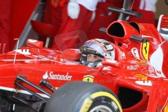 World © Octane Photographic Ltd. Formula 1 - Young Driver Test - Silverstone. Friday 19th July 2013. Day 3. Scuderia Ferrari F138 – Davide Rigon. Digital Ref : 0755lw1d0274