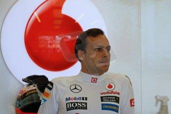 World © Octane Photographic Ltd. Formula 1 - Young Driver Test - Silverstone. Friday 19th July 2013. Day 3. Vodafone McLaren Mercedes MP4/28 – Gary Paffett. Digital Ref: 0755lw1d9801