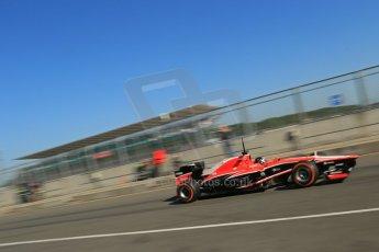 World © Octane Photographic Ltd. Formula 1 - Young Driver Test - Silverstone. Friday 19th July 2013. Day 3. Marussia F1 Team MR02 - Rodolfo Gonzalez. Digital Ref : 0755lw1d9835