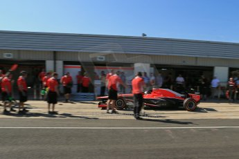 World © Octane Photographic Ltd. Formula 1 - Young Driver Test - Silverstone. Friday 19th July 2013. Day 3. Marussia F1 Team MR02 - Rodolfo Gonzalez. Digital Ref :  0755lw1d9942