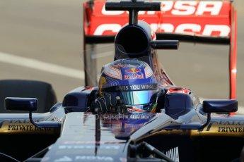 World © Octane Photographic Ltd. Formula 1 - Young Driver Test - Silverstone. Thursday 18th July 2013. Day 2. Scuderia Toro Rosso STR8 - Daniel Ricciardo. Digital Ref : 0753lw1d6046