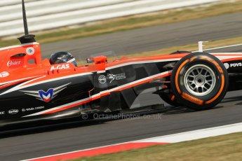 World © Octane Photographic Ltd. Formula 1 - Young Driver Test - Silverstone. Thursday 18th July 2013. Day 2. Marussia F1 Team MR02 - Rodolfo Gonzalez. Digital Ref : 0753lw1d6226
