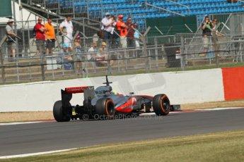 World © Octane Photographic Ltd. Formula 1 - Young Driver Test - Silverstone. Thursday 18th July 2013. Day 2. Vodafone McLaren Mercedes MP4/28 - Oliver Turvey. Digital Ref : 0753lw1d6342