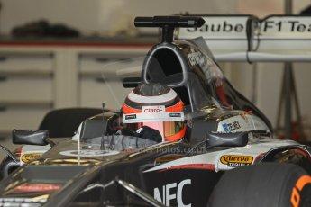 World © Octane Photographic Ltd. Formula 1 - Young Driver Test - Silverstone. Thursday 18th July 2013. Day 2. Sauber C32 - Nico Hülkenberg. Digital Ref : 0753lw1d6449
