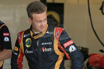 World © Octane Photographic Ltd. Formula 1 - Young Driver Test - Silverstone. Thursday 18th July 2013. Day 2. Lotus F1 Team E21 - Davide Valsecchi. Digital Ref : 0753lw1d9024