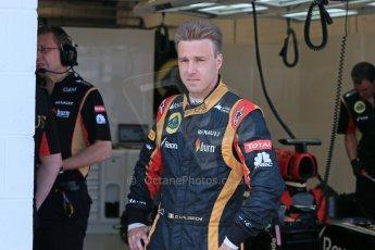 World © Octane Photographic Ltd. Formula 1 - Young Driver Test - Silverstone. Thursday 18th July 2013. Day 2. Lotus F1 Team E21 - Davide Valsecchi. Digital Ref : 0753lw1d9027