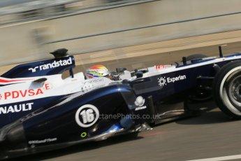 World © Octane Photographic Ltd. Formula 1 - Young Driver Test - Silverstone. Thursday 18th July 2013. Day 2. Williams FW35 - Pastor Maldonado. Digital Ref : 0753lw1d9198