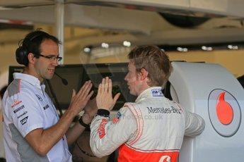 World © Octane Photographic Ltd. Formula 1 - Young Driver Test - Silverstone. Thursday 18th July 2013. Day 2. Vodafone McLaren Mercedes MP4/28 - Oliver Turvey. Digital Ref : 0753lw1d9234