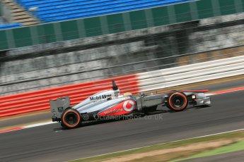 World © Octane Photographic Ltd. Formula 1 - Young Driver Test - Silverstone. Thursday 18th July 2013. Day 2. Vodafone McLaren Mercedes MP4/28 - Oliver Turvey. Digital Ref : 0753lw1d9268