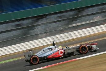World © Octane Photographic Ltd. Formula 1 - Young Driver Test - Silverstone. Thursday 18th July 2013. Day 2. Vodafone McLaren Mercedes MP4/28 - Oliver Turvey. Digital Ref : 0753lw1d9345