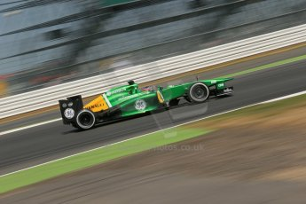 World © Octane Photographic Ltd. Formula 1 - Young Driver Test - Silverstone. Thursday 18th July 2013. Day 2. Caterham F1 Team CT03 – Will Stevens. Digital Ref : 0753lw1d9381