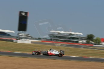 World © Octane Photographic Ltd. Formula 1 - Young Driver Test - Silverstone. Thursday 18th July 2013. Day 2. Vodafone McLaren Mercedes MP4/28 - Oliver Turvey. Digital Ref : 0753lw1d9516