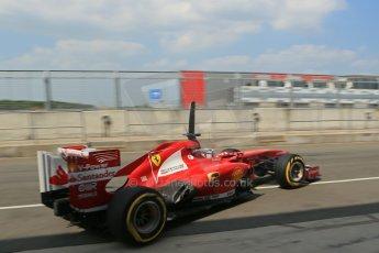 World © Octane Photographic Ltd. Formula 1 - Young Driver Test - Silverstone. Thursday 18th July 2013. Day 2. Scuderia Ferrari F138 - Davide Rigon. Digital Ref : 0753lw1d9581