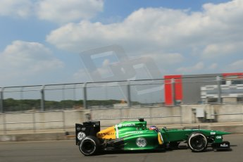 World © Octane Photographic Ltd. Formula 1 - Young Driver Test - Silverstone. Thursday 18th July 2013. Day 2. Caterham F1 Team CT03 – Will Stevens. Digital Ref : 0753lw1d9599