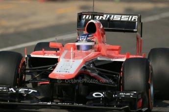 World © Octane Photographic Ltd. Formula 1 - Young Driver Test - Silverstone. Wednesday 17th July 2013. Day 1. Marussia F1 Team MR02 - Tio Ellinas. Digital Ref : 0752lw1d8538