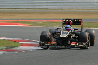 World © Octane Photographic Ltd. Formula 1 - Young Driver Test - Silverstone. Wednesday 17th July 2013. Day 1. Lotus F1 Team E21 - Nicolas Prost. Digital Ref : 0752lw1d8695
