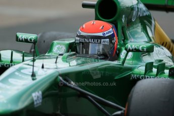 World © Octane Photographic Ltd. Formula 1 - Young Driver Test - Silverstone. Wednesday 17th July 2013. Day 1. Caterham F1 Team CT03 - Alex Rossi. Digital Ref : 0752lw1d8847
