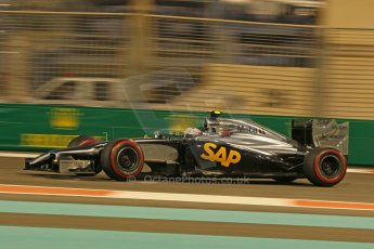 World © Octane Photographic Ltd. Friday 21st November 2014. Abu Dhabi Grand Prix - Yas Marina Circuit - Formula 1 Practice 2. McLaren Mercedes MP4/29 – Kevin Magnussen. Digital Ref: 1161CB1D7227