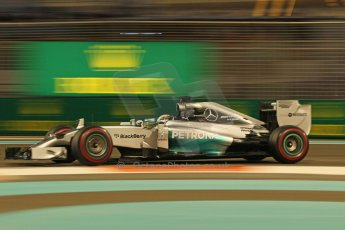 World © Octane Photographic Ltd. Friday 21st November 2014. Abu Dhabi Grand Prix - Yas Marina Circuit - Formula 1 Practice 2. Mercedes AMG Petronas F1 W05 – Lewis Hamilton. Digital Ref: 1161CB1D7244