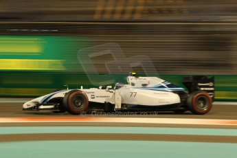 World © Octane Photographic Ltd. Friday 21st November 2014. Abu Dhabi Grand Prix - Yas Marina Circuit - Formula 1 Practice 2. Williams Martini Racing FW36 – Valtteri Bottas. Digital Ref: 1161CB1D7259