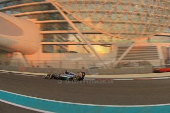 World © Octane Photographic Ltd. Friday 21st November 2014. Abu Dhabi Grand Prix - Yas Marina Circuit - Formula 1 Practice 2. Mercedes AMG Petronas F1 W05 – Lewis Hamilton. Digital Ref: 1161CB7D8024