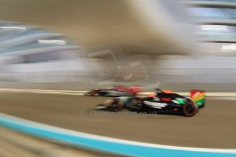 World © Octane Photographic Ltd. Friday 21st November 2014. Abu Dhabi Grand Prix - Yas Marina Circuit - Formula 1 Practice 2. Sahara Force India VJM07 – Nico Hulkenburg. Digital Ref : 1161CB7D8091