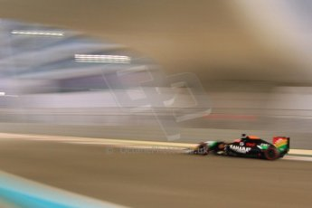 World © Octane Photographic Ltd. Friday 21st November 2014. Abu Dhabi Grand Prix - Yas Marina Circuit - Formula 1 Practice 2. Sahara Force India VJM07 – Nico Hulkenburg. Digital Ref : 1161CB7D8109